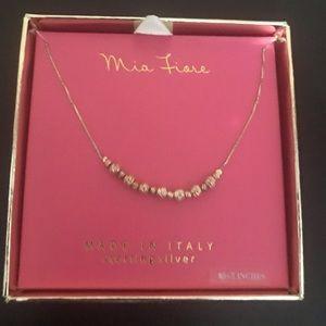 NWT Mia Fione Sterling Silver Gold/Silver 18 chain